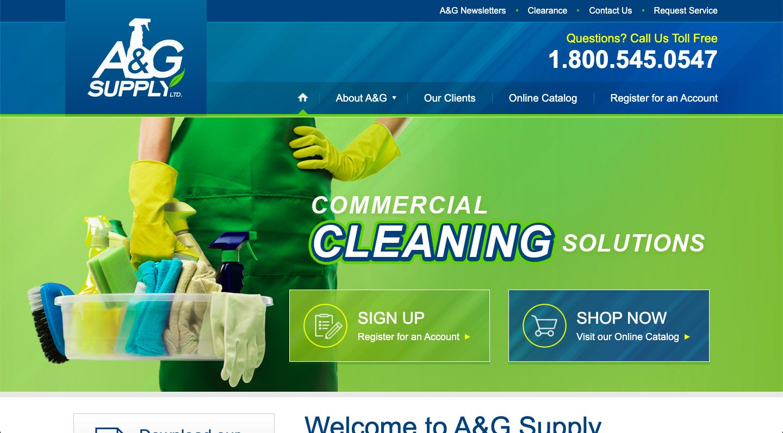 A&G Supply Website