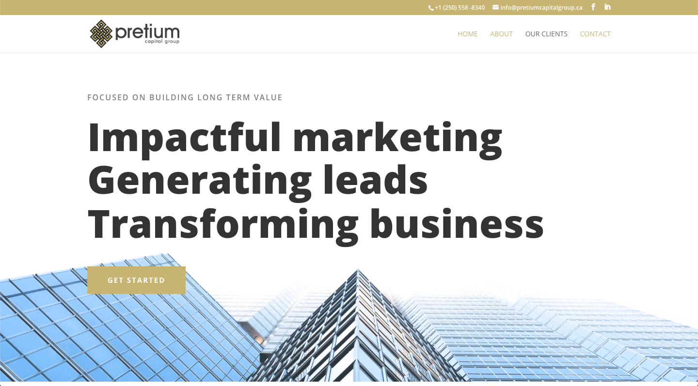 Pretium Capital Group Website