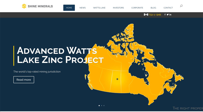 Shine Minerals Website